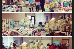 The bountiful blessings of Shower of Love being distributed at Youth In Need